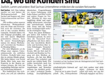 Artikel aus dem Harzer Wochenspiegel vom März 2018